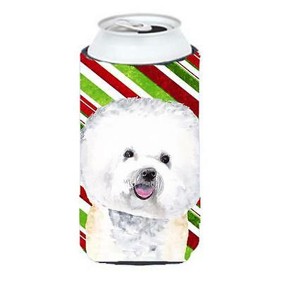 Bichon Frise Candy Cane Holiday Christmas Tall Boy bottle sleeve Hugger 22 To...