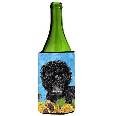 Affenpinscher In Summer Flowers Wine bottle sleeve Hugger 24 oz.