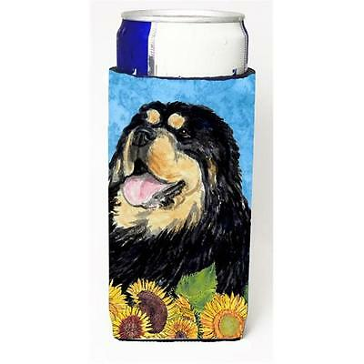 Tibetan Mastiff In Summer Flowers Michelob Ultra bottle sleeves For Slim Cans...