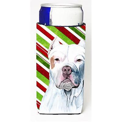 Pit Bull Candy Cane Holiday Christmas Michelob Ultra bottle sleeves For Slim ...