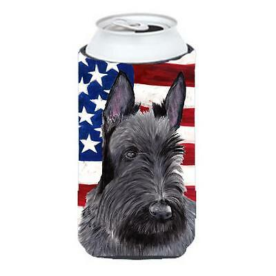 Usa American Flag With Scottish Terrier Tall Boy bottle sleeve Hugger 22 To 2...