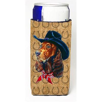 Irish Setter Dog Country Lucky Horseshoe Michelob Ultra bottle sleeves For Sl...