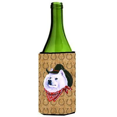 Samoyed Dog Country Lucky Horseshoe Wine bottle sleeve Hugger 24 oz.
