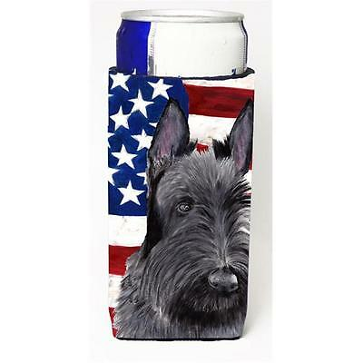 Usa American Flag With Scottish Terrier Michelob Ultra bottle sleeves For Sli...
