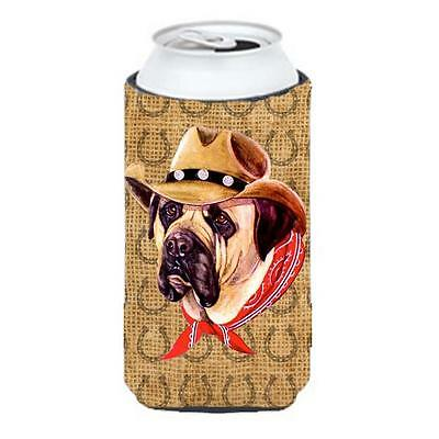 Mastiff Dog Country Lucky Horseshoe Tall Boy bottle sleeve Hugger 22 To 24 oz.
