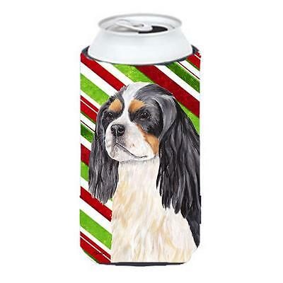 Cavalier Spaniel Candy Cane Holiday Christmas Tall Boy bottle sleeve Hugger 2...