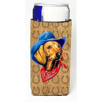 Dachshund Red Dog Country Lucky Horseshoe Michelob Ultra bottle sleeves For S...