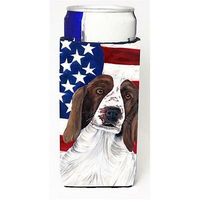 Usa American Flag With Welsh Springer Spaniel Michelob Ultra bottle sleeves F...