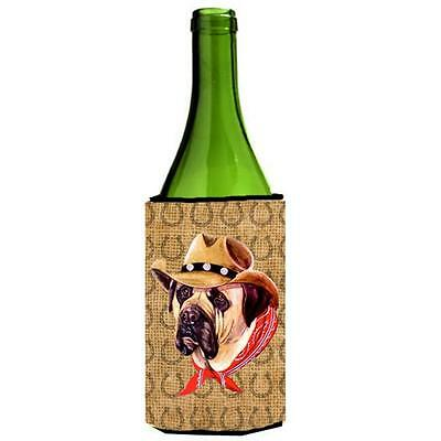 Mastiff Dog Country Lucky Horseshoe Wine bottle sleeve Hugger 24 oz.
