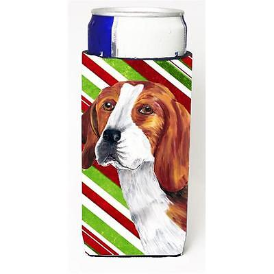 Beagle Candy Cane Holiday Christmas Michelob Ultra bottle sleeves For Slim Ca...