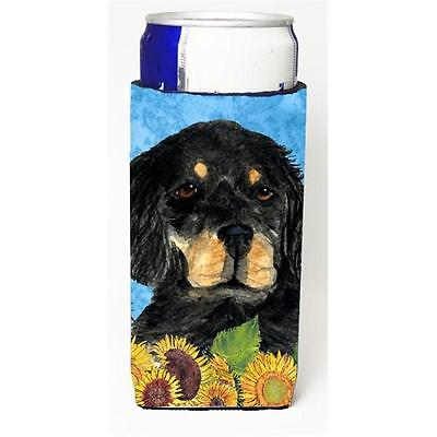 Gordon Setter In Summer Flowers Michelob Ultra bottle sleeves For Slim Cans 1...