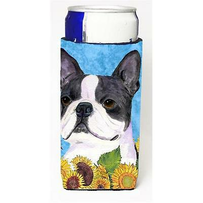 Boston Terrier In Summer Flowers Michelob Ultra bottle sleeves For Slim Cans ...