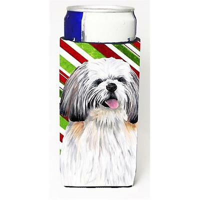 Shih Tzu Candy Cane Holiday Christmas Michelob Ultra bottle sleeves For Slim ...