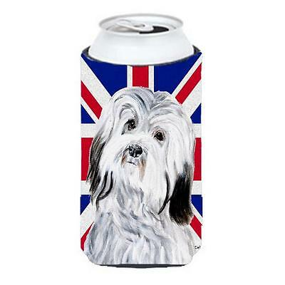 Havanese With English Union Jack British Flag Tall Boy bottle sleeve Hugger 2...