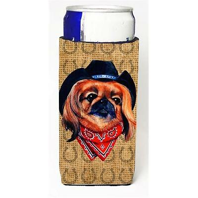 Pekingese Dog Country Lucky Horseshoe Michelob Ultra bottle sleeves For Slim ...