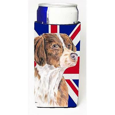 Brittany Spaniel With English Union Jack British Flag Michelob Ultra bottle s...