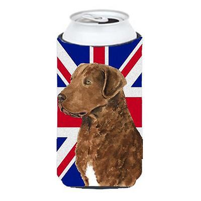 Curly Coated Retriever With English Union Jack British Flag Tall Boy bottle s...