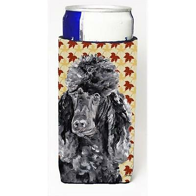 Black Standard Poodle Fall Leaves Michelob Ultra bottle sleeves Slim Cans 12 Oz.