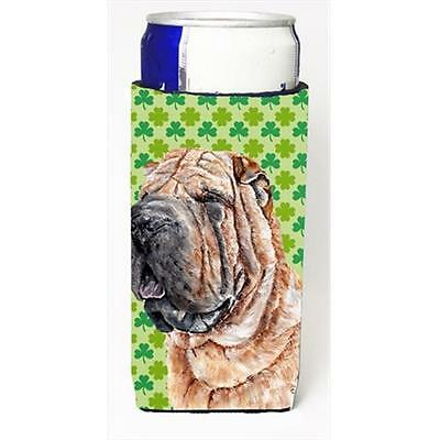 Shar Pei Lucky Shamrock St. Patricks Day Michelob Ultra bottle sleeves Slim C...