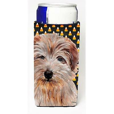 Norfolk Terrier Candy Corn Halloween Michelob Ultra bottle sleeves Slim Cans ...