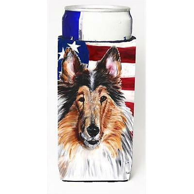 Collie With American Flag Usa Michelob Ultra bottle sleeves Slim Cans 12 Oz.