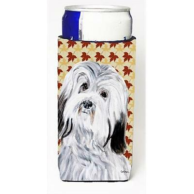 Havanese Fall Leaves Michelob Ultra bottle sleeves Slim Cans 12 Oz.