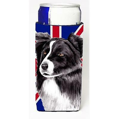 Border Collie With English Union Jack British Flag Michelob Ultra bottle slee...