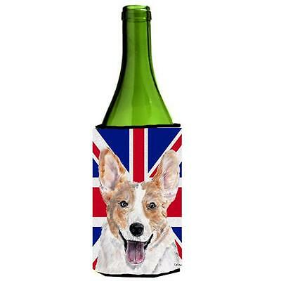 Cardigan Corgi With English Union Jack British Flag Wine bottle sleeve Hugger...