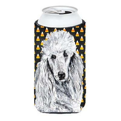 White Standard Poodle Candy Corn Halloween Tall Boy bottle sleeve Hugger 22 T... • AUD 47.47
