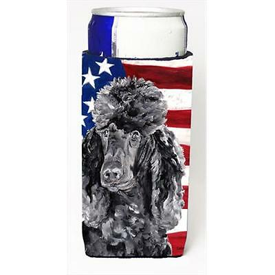 Black Standard Poodle With American Flag USA Michelob Ultra bottle sleeves Fo...