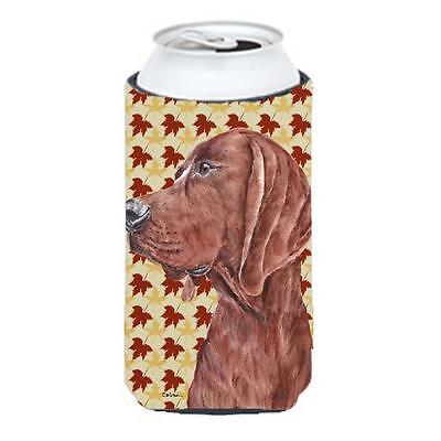 Redbone Coonhound Fall Leaves Tall Boy bottle sleeve Hugger 22 To 24 Oz.