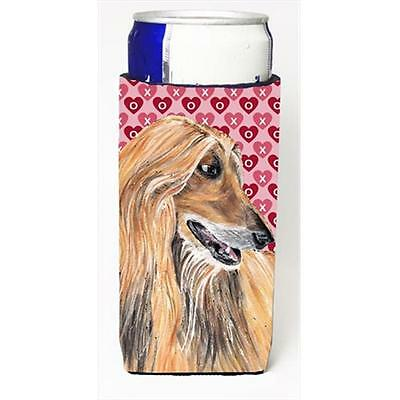 Afghan Hound Hearts Love And Valentines Day Michelob Ultra bottle sleeves For...