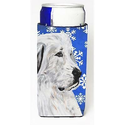 Great Pyrenees Winter Snowflakes Michelob Ultra bottle sleeves Slim Cans 12 Oz.