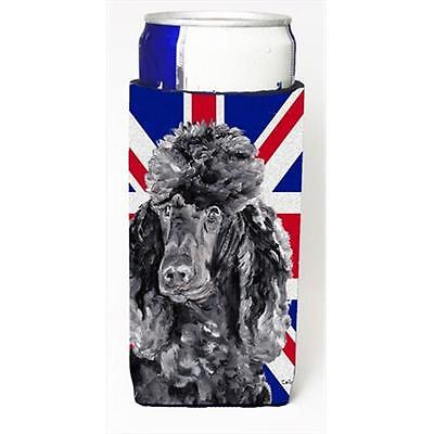 Black Standard Poodle With English Union Jack British Flag Michelob Ultra bot...