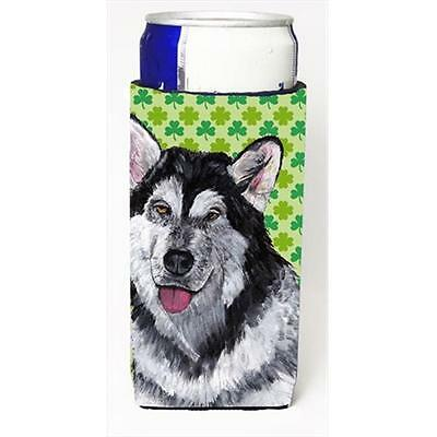Alaskan Malamute St. Patricks Day Shamrock Michelob Ultra bottle sleeves For ...