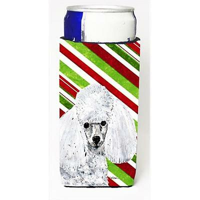 White Toy Poodle Candy Cane Christmas Michelob Ultra bottle sleeves Slim Cans...