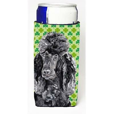 Black Standard Poodle Lucky Shamrock St. Patricks Day Michelob Ultra bottle s...