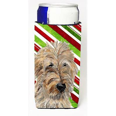Golden Doodle 2 Candy Cane Christmas Michelob Ultra bottle sleeves Slim Cans ...