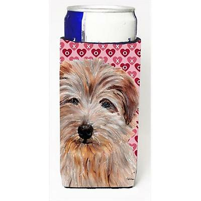 Norfolk Terrier Hearts And Love Michelob Ultra bottle sleeves Slim Cans 12 Oz.