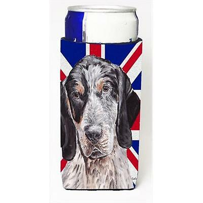 Blue Tick Coonhound With English Union Jack British Flag Michelob Ultra bottl...