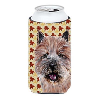 Norwich Terrier Fall Leaves Tall Boy bottle sleeve Hugger 22 To 24 Oz.
