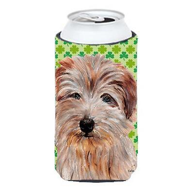 Norfolk Terrier Lucky Shamrock St. Patricks Day Tall Boy bottle sleeve Hugger...