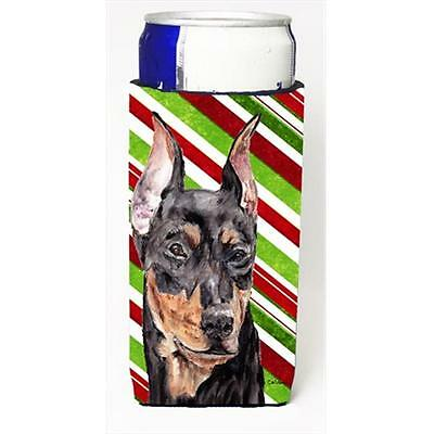 German Pinscher Candy Cane Christmas Michelob Ultra bottle sleeves Slim Cans ...