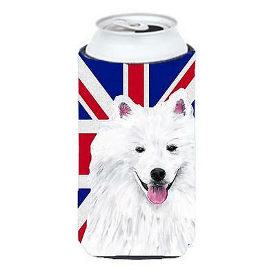 American Eskimo With English Union Jack British Flag Tall Boy bottle sleeve H...