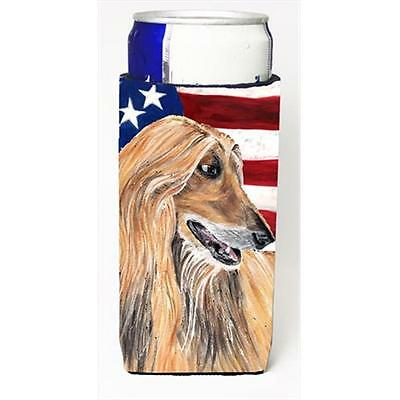 Afghan Hound USA Patriotic American Flag Michelob Ultra bottle sleeves For Sl...