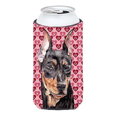 German Pinscher Hearts And Love Tall Boy bottle sleeve Hugger 22 To 24 Oz.