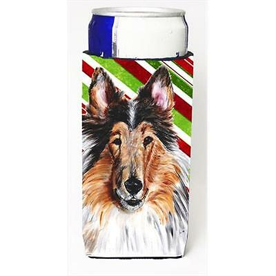Collie Candy Cane Christmas Michelob Ultra bottle sleeves Slim Cans 12 Oz.