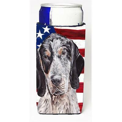 Blue Tick Coonhound With American Flag USA Michelob Ultra bottle sleeves For ...