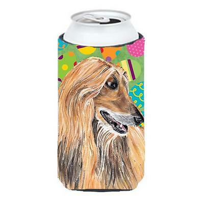 Afghan Hound Easter Eggtravaganza Tall Boy bottle sleeve Hugger 22 To 24 Oz.