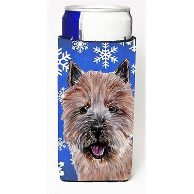 Norwich Terrier Winter Snowflakes Michelob Ultra bottle sleeves Slim Cans 12 Oz.